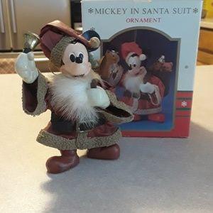 Vintage Mickey Mouse Santa ornament from Walt Disn